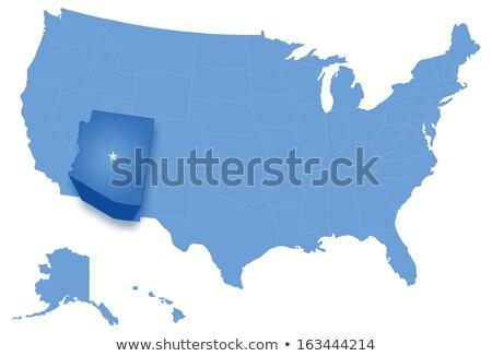 Karte Vereinigte Staaten alle Arizona heraus politischen Stock foto © Istanbul2009