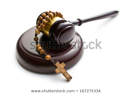 judges gavel and rosary beads stock photo © jirkaejc