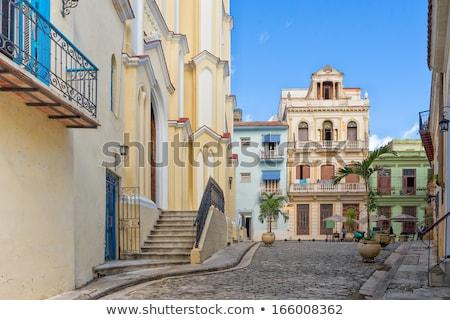edificio · La · Habana · Cuba · arquitectura · vintage · estilo - foto stock © weltreisendertj