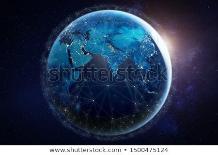 verde · planeta · espaço · árvore · nuvens · grama - foto stock © harlekino