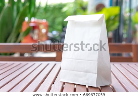hediye · çanta · şerit · ahşap · rustik - stok fotoğraf © justinb