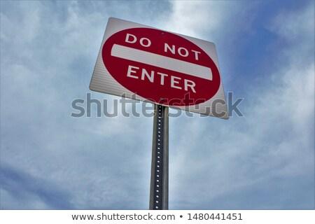 Közlekedési tábla stop téves nem belépés kéz Stock fotó © Ustofre9