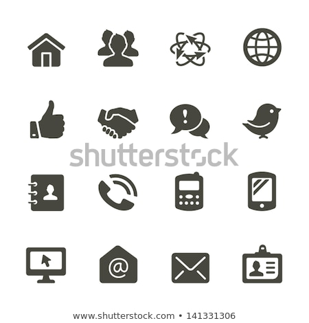abstract contacts icon Stock photo © pathakdesigner