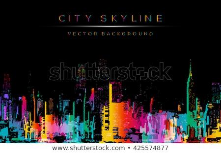 город иллюстрация домах Сток-фото © VOOK