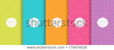 seamless blue colors chevron pattern set stock photo © creative_stock