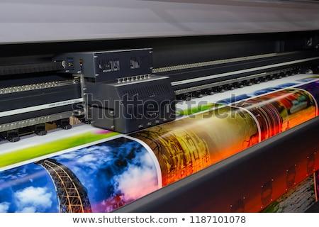 Nyomtatott retro szél elektromosság sziluettek illusztráció Stock fotó © maxmitzu