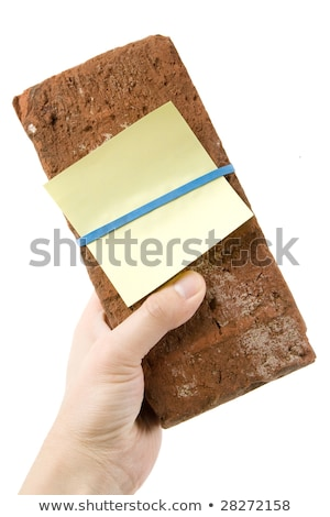 red brick and threat letter stock photo © devon