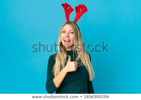 女性 サンタクロース 帽子 美しい 小さな ストックフォト © jaykayl