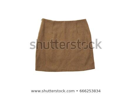 ストックフォト: 女性 · 船乗り · 孤立した · 白 · 笑顔 · ファッション