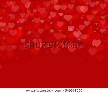 Rood harten paar kunst corporate wijnstok Stockfoto © shawlinmohd