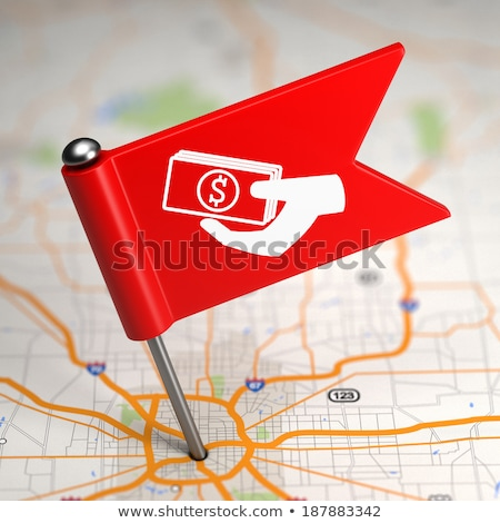 Money Concept - Small Flag on a Map Background. Stock photo © tashatuvango