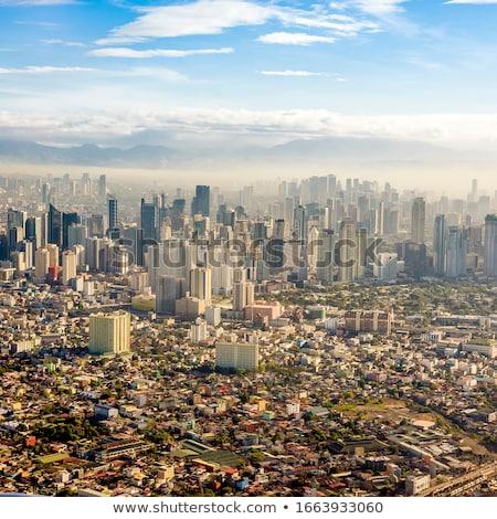 Manila görmek uçak şehir pencere Filipinler Stok fotoğraf © smithore