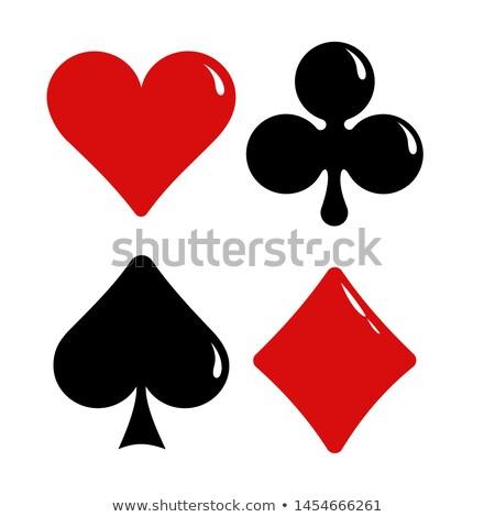 Conjunto corações spades ícones cartão terno Foto stock © elenapro