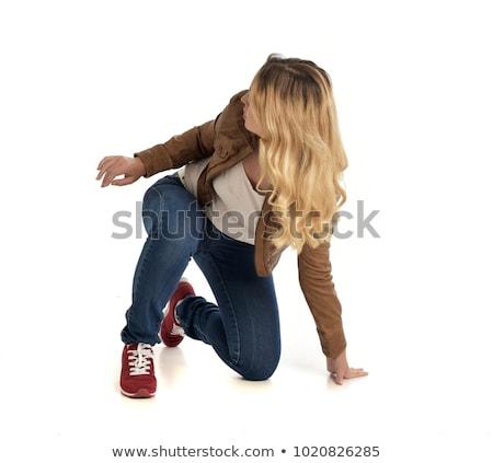 woman - crouching Stock photo © dgilder