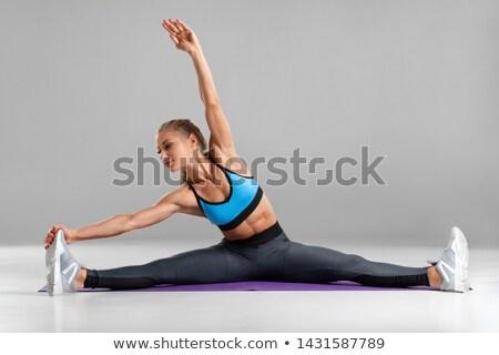 woman doing abdominal Stock photo © uelderferreira