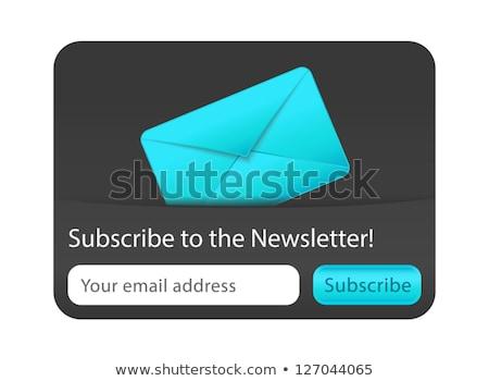 Boletim informativo teia forma azul carta site Foto stock © liliwhite