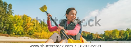 Tourists kayaking in river, Quebec, Canada Stock photo © bmonteny