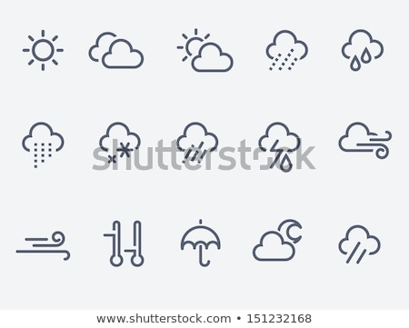 Météorologiques icônes lune pluie été signe Photo stock © ordogz