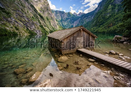 Boathouse at lake Obersee Stock photo © w20er