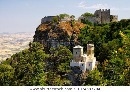Panorámakép kilátás három ősi város Szicília Stock fotó © Dserra1