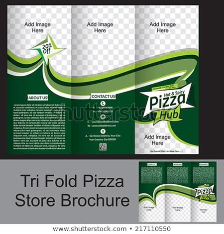 vector · pizza · illustratie · label · menu · icon - stockfoto © rioillustrator