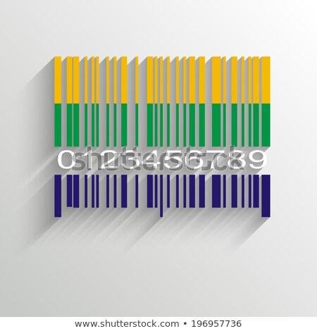 Brazil Summer Barcode Background - vector illustration Stock photo © sdmix