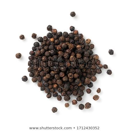 Foto stock: Pimenta · preta · madeira · preto · planta · cozinhar · quente