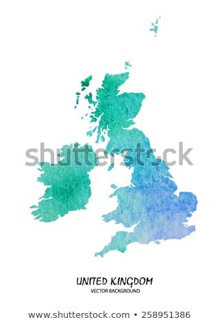 Groot-brittannië aquarel kaart kunst stedelijke schilderij Stockfoto © chris2766