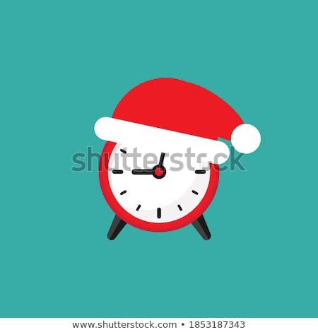 christmas · zegar · ostry · ilustracja · łatwe - zdjęcia stock © DzoniBeCool