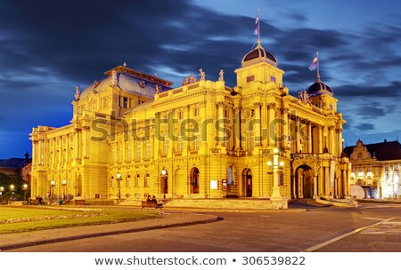 Загреб театра ночь город театра Европа Сток-фото © LianeM