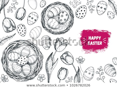 paskalya · yumurtası · model · Paskalya · soyut · yaz - stok fotoğraf © kali