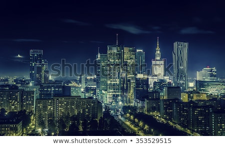 Varşova · şehir · merkezinde · öğleden · sonra · güneş · görmek · gökyüzü - stok fotoğraf © filipw