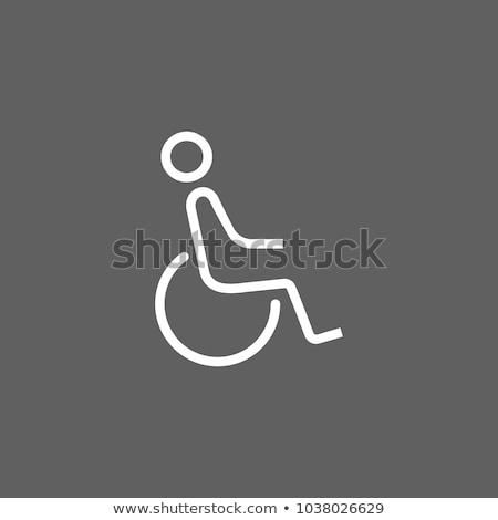 toilet restrooms for wheelchair handicap icon design stock photo © kiddaikiddee