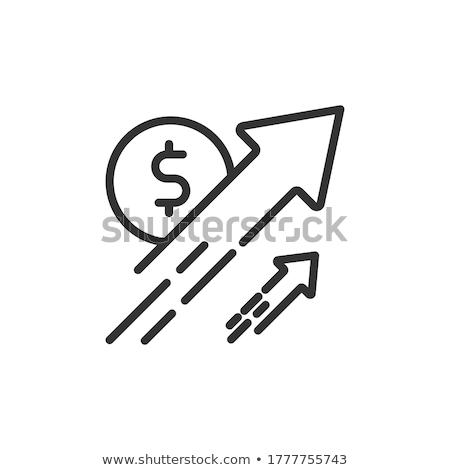 Emelkedő dollár gyakoriság pénzügyi grafikon pénz Stock fotó © timurock