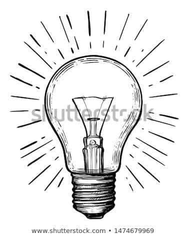 Kroki ampul bağbozumu stil vektör ışık Stok fotoğraf © kali