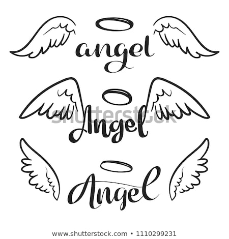Angel Doodle Drawing Stock photo © stevanovicigor
