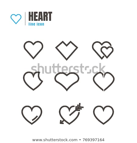 Abstract Hearth icon set Stock photo © eltoro69