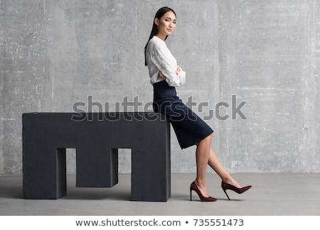 успешный азиатских женщину деловой женщины служба Сток-фото © tangducminh