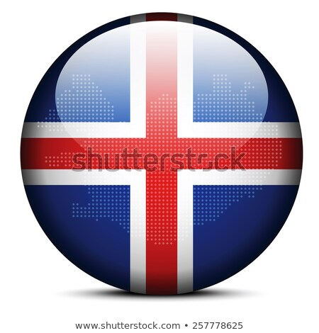 map with dot pattern on flag button of iceland stock photo © istanbul2009