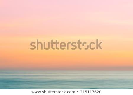 Océano puesta de sol minimalismo agua paisaje Foto stock © joyr