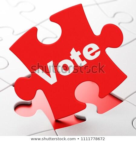 protest   word on red puzzles stock photo © tashatuvango