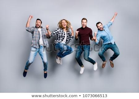 Equipe pessoas felizes projeto mundo Foto stock © joseph_arce