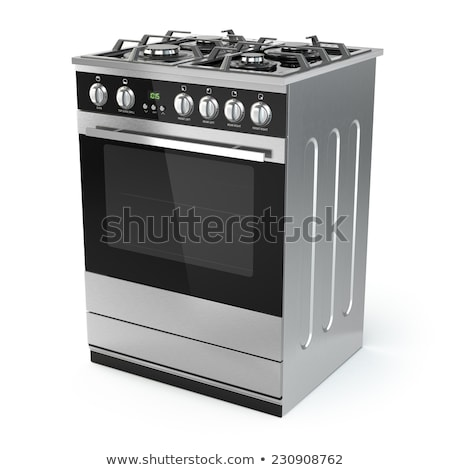 isolated stainless steel gas burner stock photo © ozaiachin