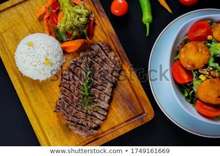 fresh roasted on grill meat steak stock photo © dariazu