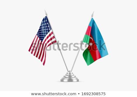 EUA Azerbaiyán miniatura banderas aislado blanco Foto stock © tashatuvango