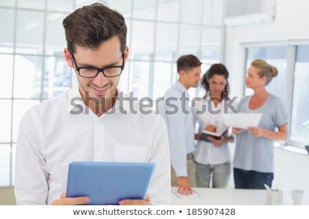 бизнесмен очки для чтения белый счастливым корпоративного Сток-фото © wavebreak_media