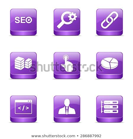 Stockfoto: Seo · internet · teken · vierkante · vector · violet