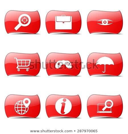 SEO Internet Sign Red Vector ButtonIcon Design Set 10 Stock photo © rizwanali3d