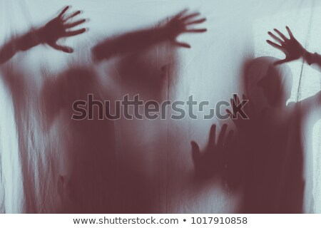 Hands touching frosted glass Stock photo © wavebreak_media