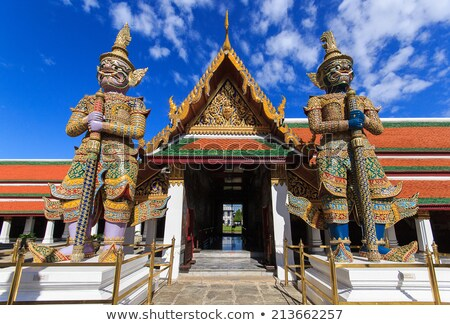 Demon statue at Wat Phra Kaew in Grand Palace, Bangkok stock photo © romitasromala